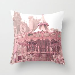 Paris Nursery, Blush, Carousel Throw Pillow