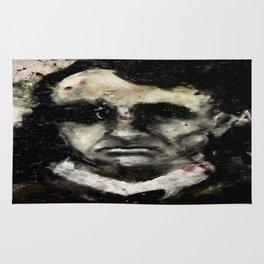 Charles Baudelaire portrait gothique vintage victorien Rug
