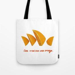 Ceci n'est pas une orange Tote Bag