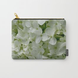 White Hydrangia Blossom Carry-All Pouch