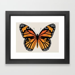Monarch Butterfly | Vintage Butterfly | Framed Art Print