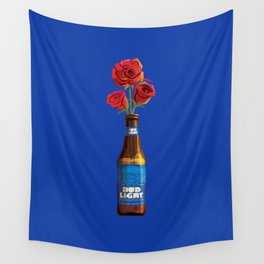 Dudes Love Roses (Blue) Wall Tapestry
