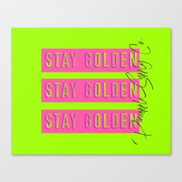 Stay Golden in Bold Neon Graphic with Pineapple Supply Co. Included Canvas Print