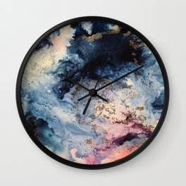 Rage - Alcohol Ink Painting Wall Clock