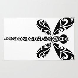 Tribal Dragonfly Tattoo Rug