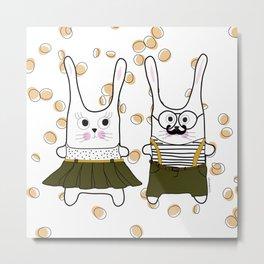 happy bunny Metal Print