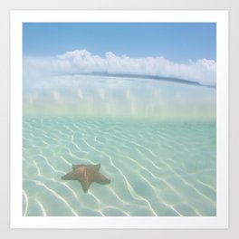 Cuban Starfish + Clouds Art Print
