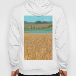 Golden Corn by the Turquoise Water Hoody