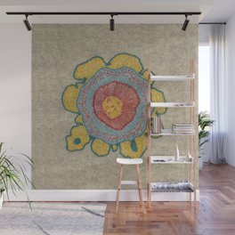 Growing - Pinus 1 - plant cell embroidery Wall Mural