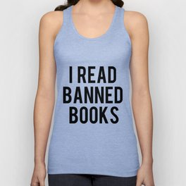 I Read Banned Books - Red B/G Unisex Tank Top