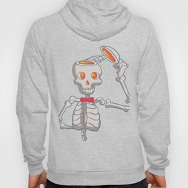 Funny skeleton with bowtie. Hoody