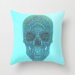 Diamond Skull [Front] Throw Pillow