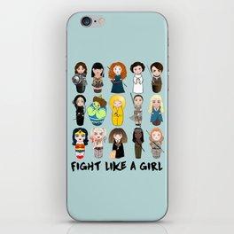 Kokeshis Fight like a girl iPhone Skin
