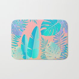 Tropics ( monstera and banana leaf pattern ) Bath Mat