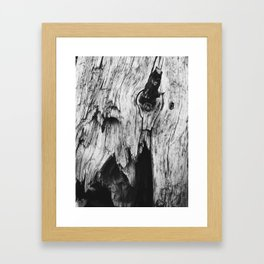 Grainy trunk Framed Art Print