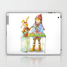 Indie Pop Girl at Christmas Time Laptop & iPad Skin