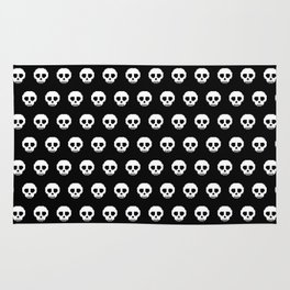Pixel Skulls - Black Rug