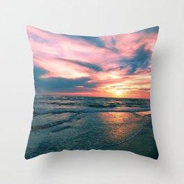 Beach Sunset Throw Pillow