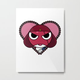 Angry Space Frogs Need Love Too. Metal Print