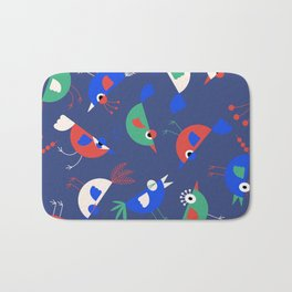 Geometric Birdies Bath Mat
