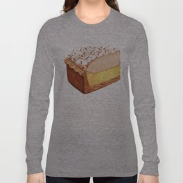 Coconut Cream Pie Slice Long Sleeve T-shirt
