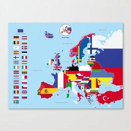 Europe flags Canvas Print