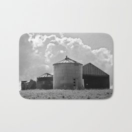 Silo Farm Photograph Bath Mat