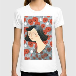 Girl on poppies T-shirt