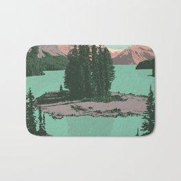 Jasper National Park Poster Bath Mat