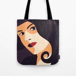 Purple woman art Tote Bag