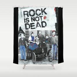 Rock is not dead Shower Curtain