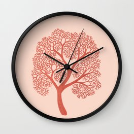 Corals in Copper Wall Clock