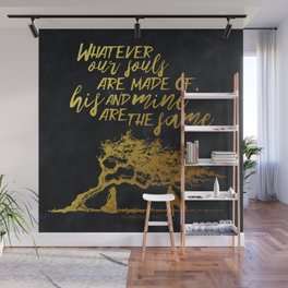 Wuthering Heights - Souls - Gold Foil Wall Mural