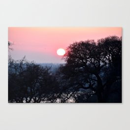 A Red Sunst Canvas Print