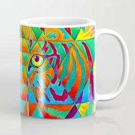 Inner Strength Psychedelic Tiger Sri Yantra Mandala Coffee Mug