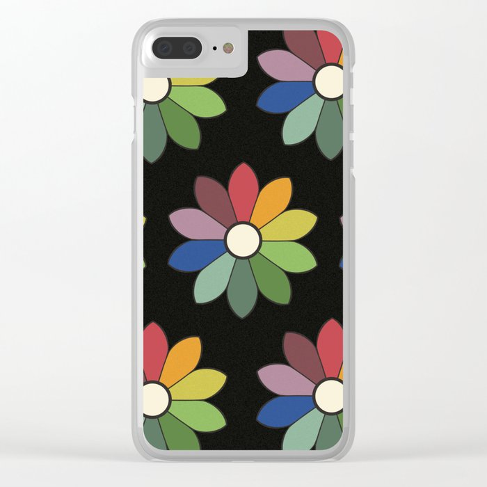 Flower pattern based on James Ward's Chromatic Circle (vintage wash) Clear iPhone Case