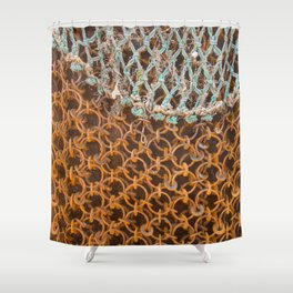 texture - connections Shower Curtain