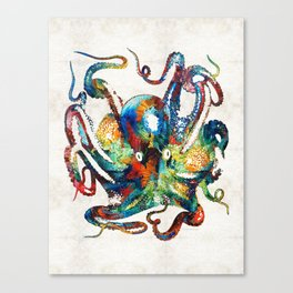 Colorful Octopus Art by Sharon Cummings Canvas Print