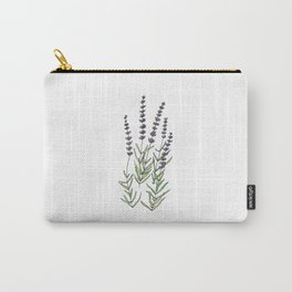 Lavender art print, ink and watercolor Carry-All Pouch
