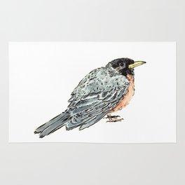 Grey Watercolor Bird Rug