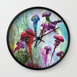 jolly jellyfish Wall Clock