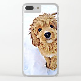 Myrra in the snow Clear iPhone Case