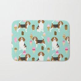 beagle ice creams dog lover pet gifts cute beagles pure breeds Bath Mat
