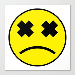 Sad Smiley Canvas Print