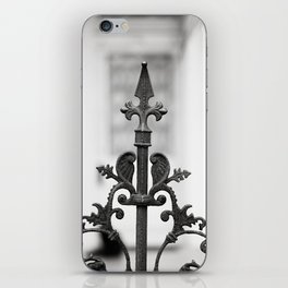 New Orleans Marigny Black and White Fence iPhone Skin