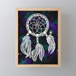 Galaxy Dreamcatcher Framed Mini Art Print