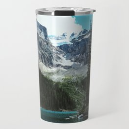 Canoeing in Moraine lake Travel Mug