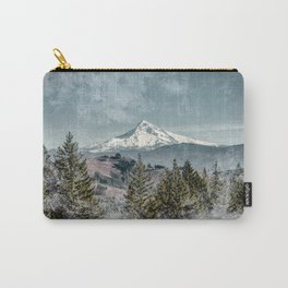 Frosty Mountain - Nature Photography Carry-All Pouch
