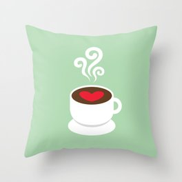 A Cup of Love Throw Pillow