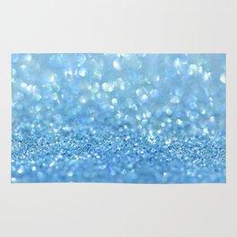 Sparkling Baby Sky Blue Glitter Effect Rug